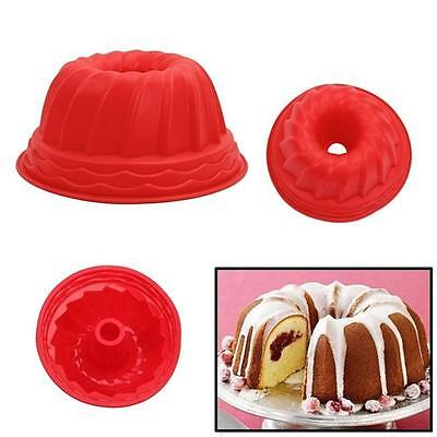 Silicone Pan Ring Shaped Cake Bread Mold Tray Mould Bakeware Kitchenware NEW -S