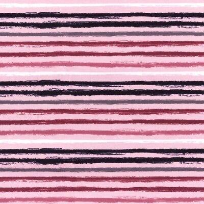 Stoff Jersey Druck Baumwolle weiß schwarz rosa Linien Striche 16€/m