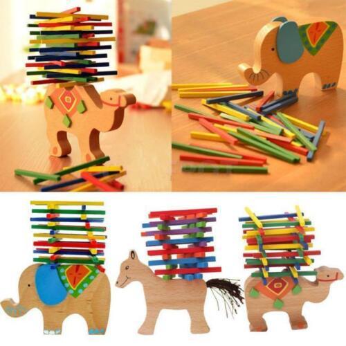 Baby Kids Child Educational Toys Wooden Toy Blocks Balance G