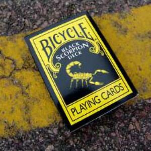 BLACK SCORPION DECK BICYCLE PLAYING CARDS - MAGIC CARD TRICKS