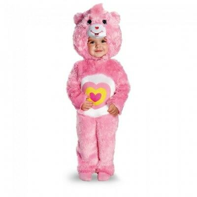 Disguise Care Bears Wonderheart Bear Deluxe Toddler Halloween Costume 52182](Bear Halloween Costume)