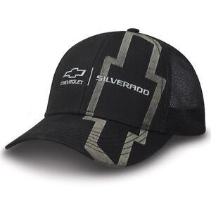 Chevrolet Chevy Silverado Licensed Cotton Twill & Polyester Mesh Black Hat