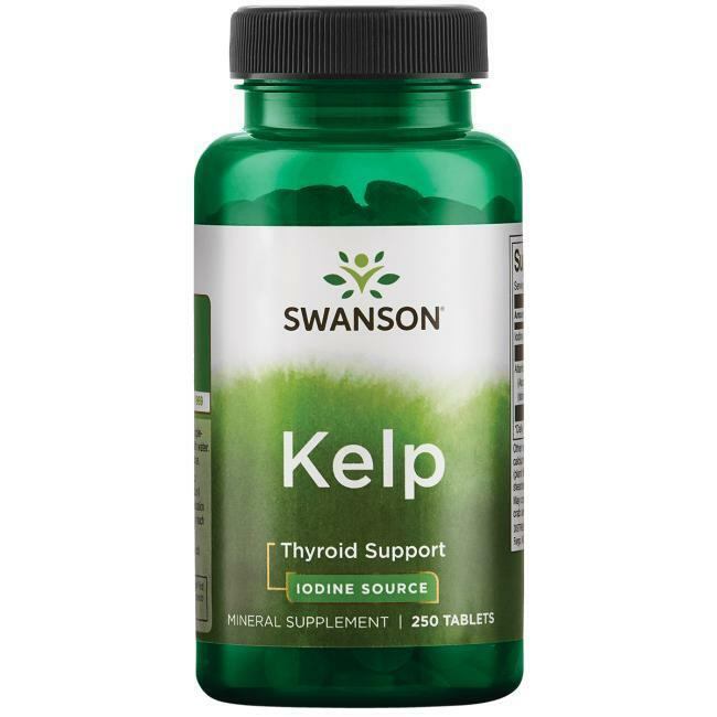 SWANSON, KELP Jod 225 mg 250 Tabletten SUPER PREIS