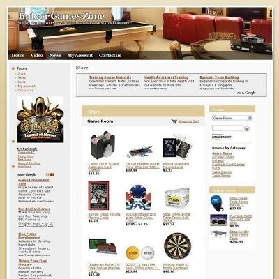 Established Online Indoor Games Zone Business Website For Sale  Free Domain Name