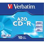 Verbatim 10x CD-R AZO Crystal discs 52-speed 700