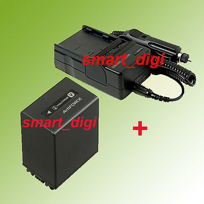 NP-FV100 Battery+Charge​r for Sony Handycam DCR-SX85 DCR-SX65 DCR-SX45 Camcorder