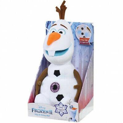 NEW DISNEY FROZEN II 2 OLAF ANIMATED PLUSH STUFFED ANIMAL SINGS TALKS LIGHTS UP