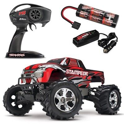NEW Traxxas Stampede 4X4 XL-5 RTR RC Truck RED w/TQ 2.4GHz & ID Battery! 67054-1