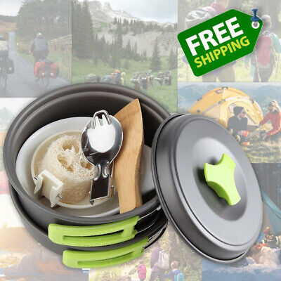 Camping Cooking Equipment Light Small Traveling Hiking Kitchen Set Compact Kit