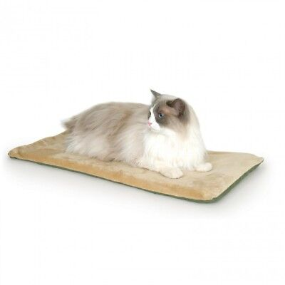 KH3293 K&H Pet Products Heated Indoor Soft Kitty Cat Bed Mat Sage 12.5