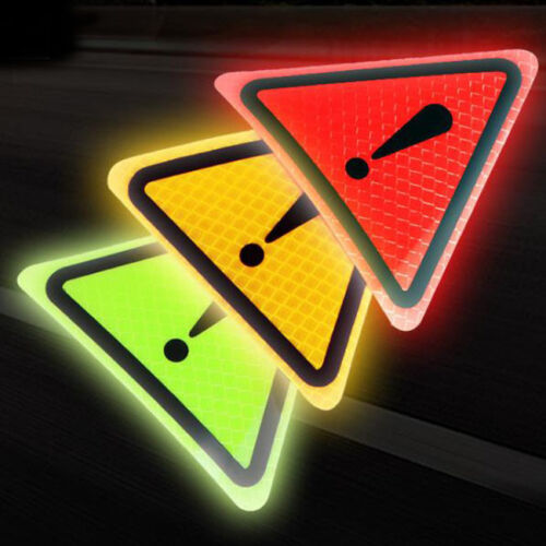 Reflective Caution Exclamation Mark Warning Yellow Triangle Vinyl