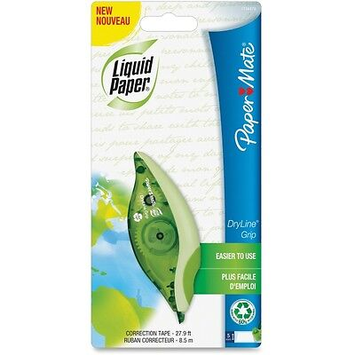 Paper Mate Liquid Paper Dryline Grip Correction Tape Recycled 1 Count