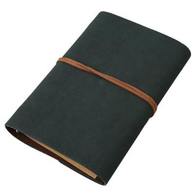 Vintage Leather Loose-Leaf Notebook Retro String Leaf Journal Diary Sketchbook 8