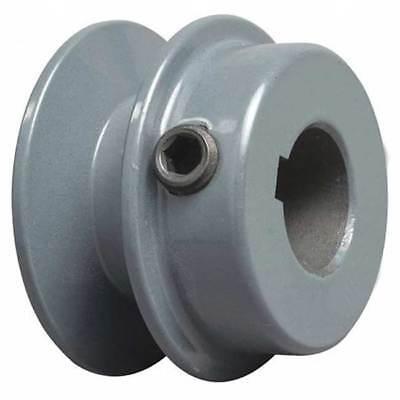 2.52-12 Diameter 34 Bore 1 Groove Sheave Pulley Bk25- 2 Hex Set Screws
