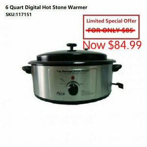 Massage hot Stone Heater Warmer and Stones Set for Treatment