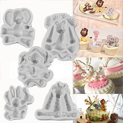 Mold Animal - Animal Shape Silicone Fondant Mould Cake Decorating Chocolate Baking Mold Tool D