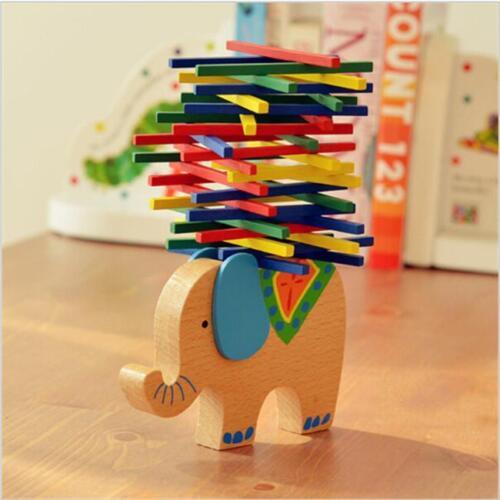 Baby Toddler Montessori Toys Wood Puzzle Stacking Blocks Kid