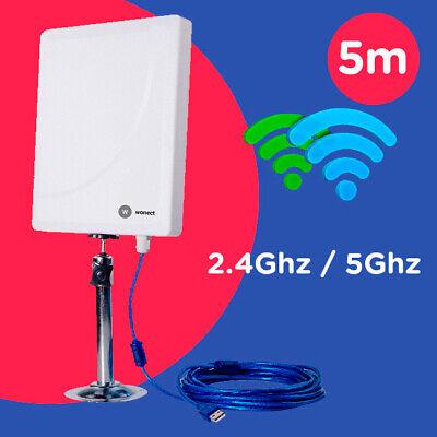 Antena WiFi Panel USB cable 5m AC600 Realtek RTL8811 Wonect W6 5...