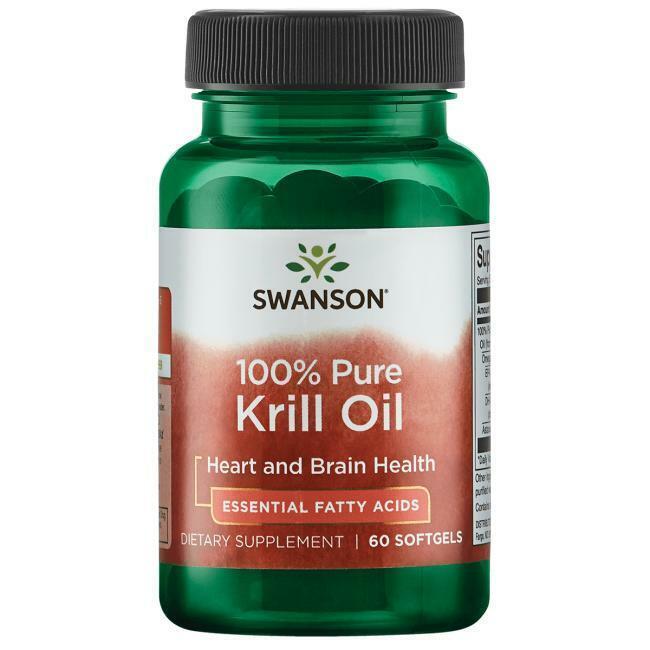 Swanson100% Pure Krill Oil - 500 mg 60 Sgels