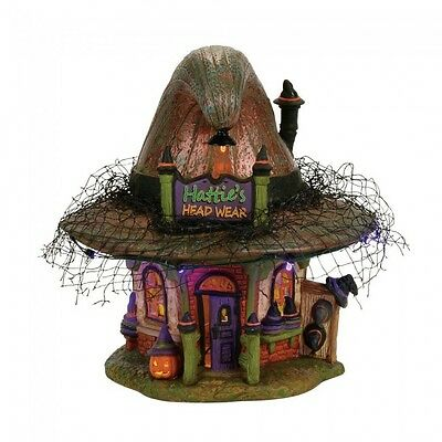 Department 56 Halloween Village New 2017 HATTIE'S HAT SHOP 4056700 Dept 56 Witch