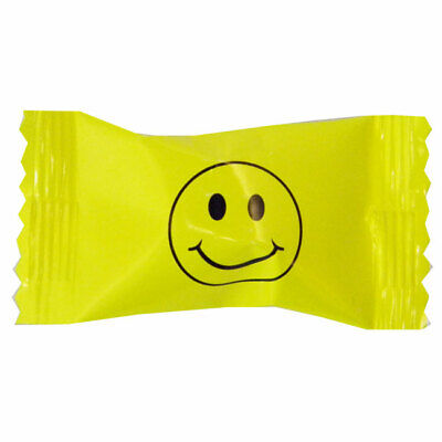 1960's 60's / 1970's 70's Party YELLOW SMILEY FACE BUTTERMINTS MINTS CANDY](70s Candy)