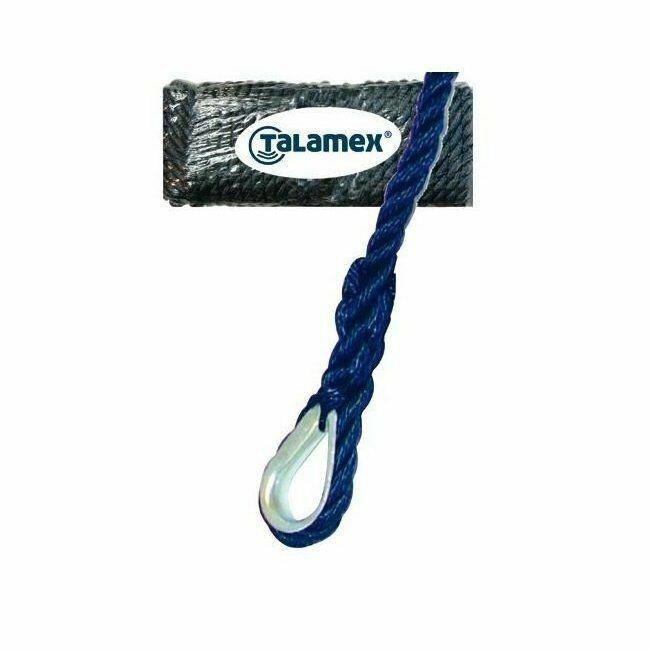 Talamex Ankerleine Ankertrosse mit Kausche | 10 mm 12mm, Länge 20m 30m, 4 Farben