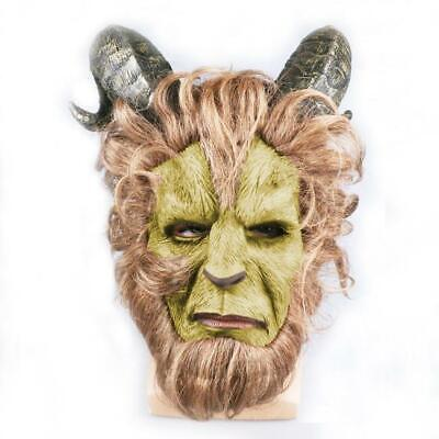 Fancy Dress Beauty and the Beast Halloween Party Mask Latex Cosplay - Halloween Mask And Costumes