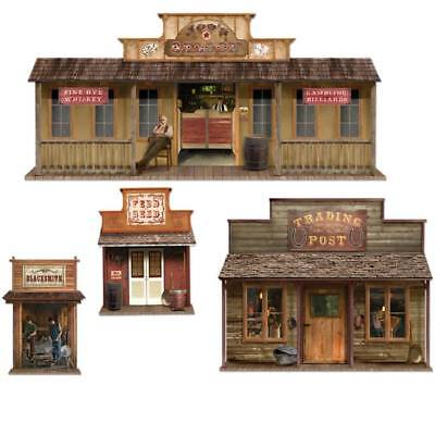 Wild West Town Paper Props Cowboy Theme Party Scene Wall Decoration