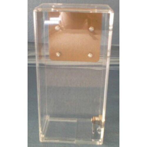 Acrylic toke box with metal J hook