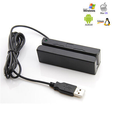Credit Card Reader Machine Portable Mini USB Magnetic Stripe Swiper Mag MSR