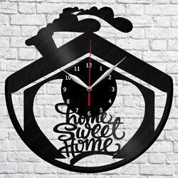 Sweet home Vinyl Record Wall Clock Art Decor Original Gift 12 30cm 1809