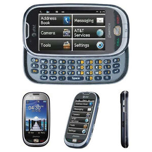 New Pantech P2020 Ease AT&T Unlocked GSM 3G Camera QWERTY Touchscreen MP3 Phone