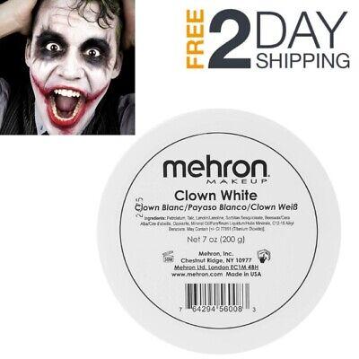 PRO Halloween White Makeup Kit 7 Oz Clown Joker Mime Goth Costume Face Paint USA