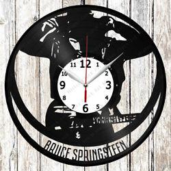 Bruce Springsteen Vinyl Wall Clock Made of Vinyl Record Original gift 2220