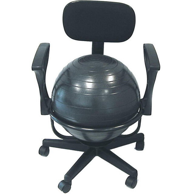 fitness office chair balance ball exercise yoga workout back