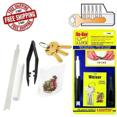 Plug Follower Kit Set For Lock Re Key Locksmith Schlage Weiser Kwikset Followers
