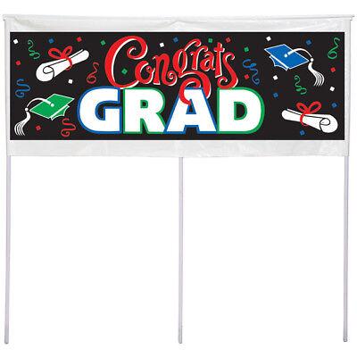 Graduation Congrats Grad Yard Banner w/ - Graduation Yard Banners