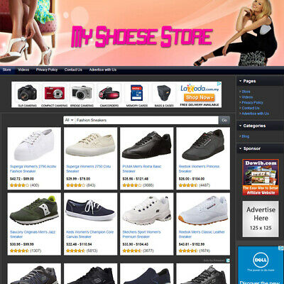 Shoes Store - Online Designed Affiliate Website For Sale Free Domain Hosting
