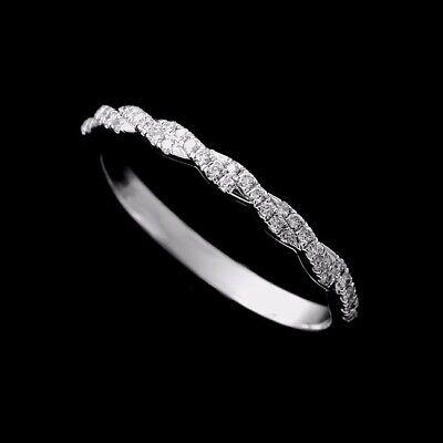 Gold Braided Intertwining Diamond Half-Way Wedding Band 1.8mm