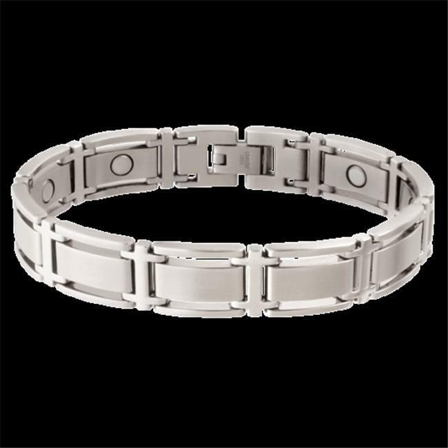 Sabona 34775 Executive Symmetry Magnetic Bracelet - Silver Large
