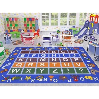Childrens Educational Playroom Carpet (Alphabet Area Rug Educational Play Room Kids Playroom Children Fun Learning)