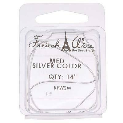 French Wire (Bullion) Silver Color Medium-14 Inches