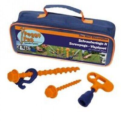 Camping Peggy Peg Plástico Arenque Tienda Arenque Tornillo Peg Starter Kit