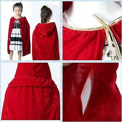 Kids Medieval Cosplay Hooded Robe Cape Cloak Dress Costume For Party FM - Medieval Dresses For Kids