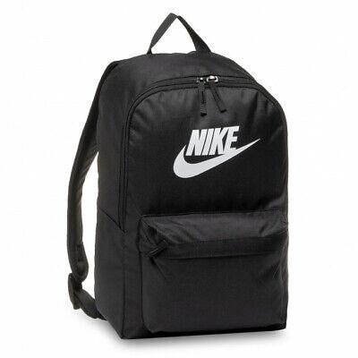 Nike Mens Backpack Rucksack Heritage Bag Sportswear Gym Travel School Black