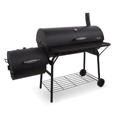 Large Charcoal Grill Outdoor Portable Barbecue Offset Smoker BBQ Camp Grilling (Large Bbq Grill)
