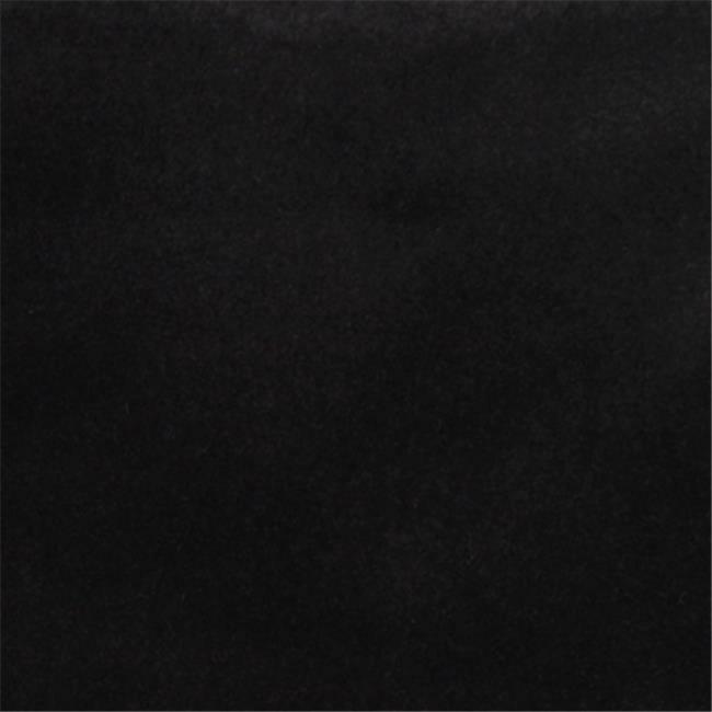 Designer Fabrics C855 54 in. Wide Black Solid Plain Velvet Automotive Residen...