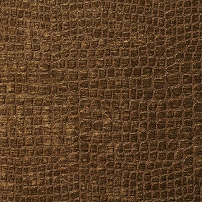 Designer Fabrics K0151K 54 in. Wide Brown Textured Alligator Shiny Woven Velv...