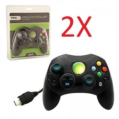 2 LOT NEW BLACK Controller Control Pad for Original Microsoft XBOX X BOX System , used for sale  Shipping to South Africa