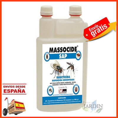 Insecticida Concentrate Massocide 1 Litre Flies Mosquito Flea Tick